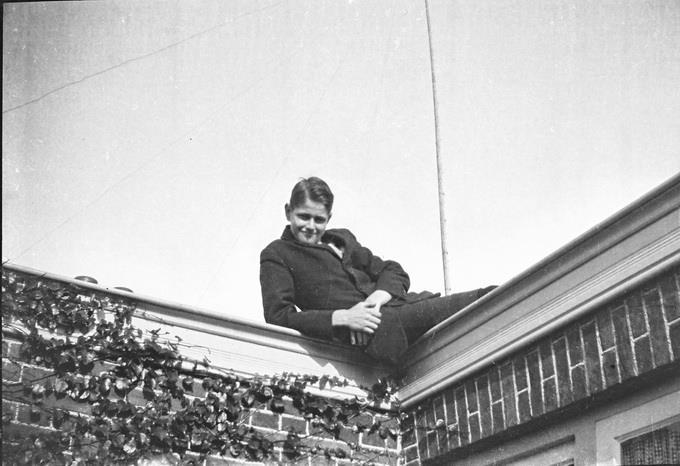 Foto van een jonge Frits van der Schrieck