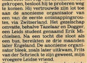 Krantenknipsel van Erik Hazelhoff Roelfzema